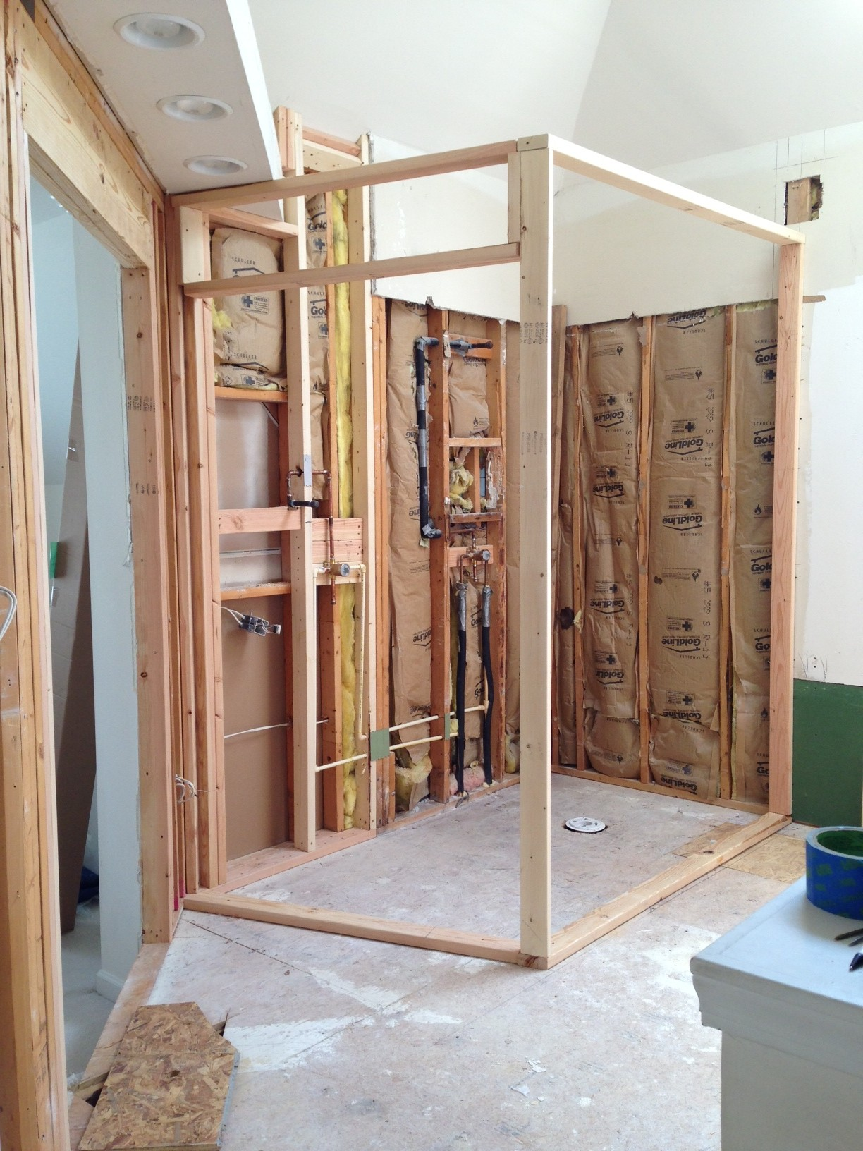 Shower Framing