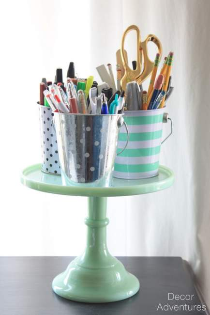 Cake Stand Pencil Holder, source