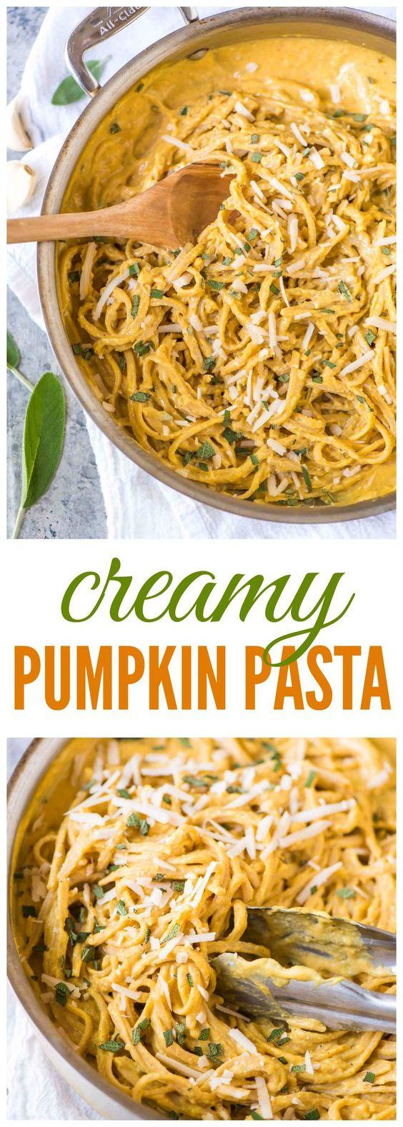 Creamy Pumpkin Pasta