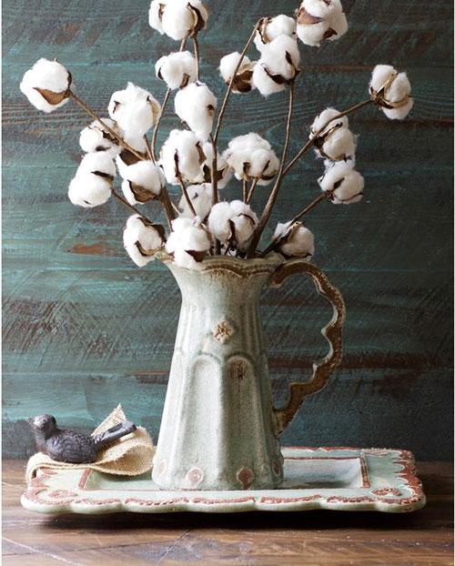 cotton vase