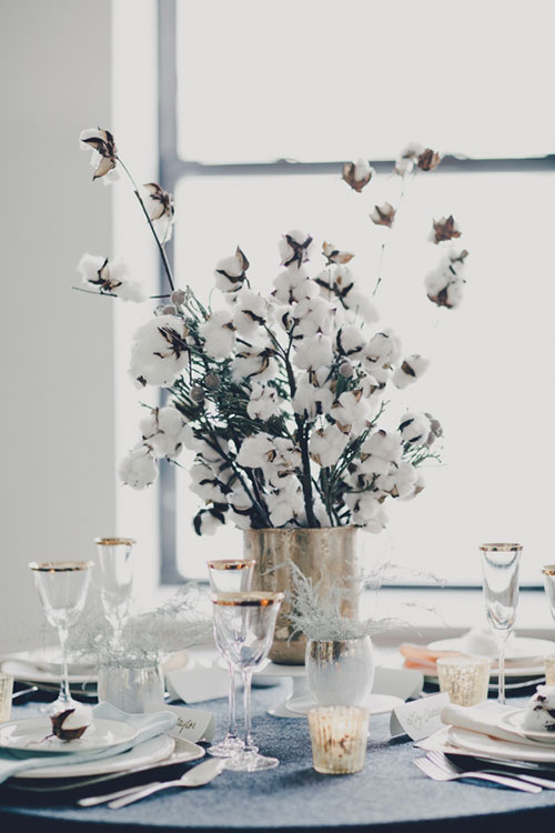 cotton tablescape