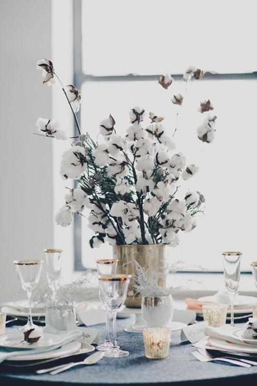 cotton tablescape